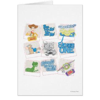 Toy Story: Collage polaroid de la imagen Tarjeta