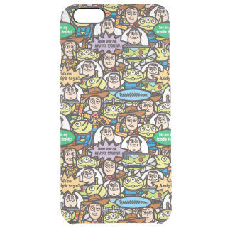 Toy Story | Cute Toy Pattern Clear iPhone 6 Plus Case