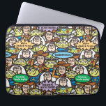 "Toy Story | Cute Toy Pattern Computer Sleeve<br><div class=""desc"">From now on,  we stick together.  This Toy Story pattern features all your favorite Toy Story characters; Woody,  Buzz Lightyear and the Aliens.</div>"