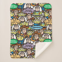 Toy Story | Cute Toy Pattern Sherpa Blanket