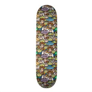 Toy Story   Cute Toy Pattern Skateboard