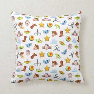 Toy Story Emoji Pattern Throw Pillow