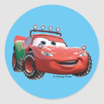 Toy Story | Lightning McQueen Looking Good Classic Round Sticker
