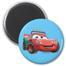 Round Magnet with Disney Christmas Ornaments design