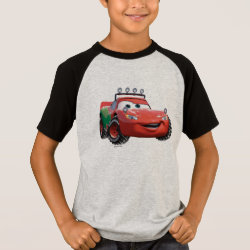 Kids' Short Sleeve Raglan T-Shirt with Disney Christmas Ornaments design