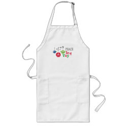 Long Apron with Disney Christmas Ornaments design
