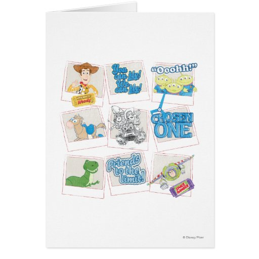 Toy story polaroid picture collage card zazzle