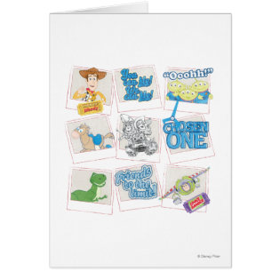 Toy Story: Polaroid Picture Collage Greeting Card