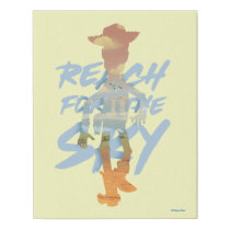 "Toy Story | ""Reach For The Sky"" Woody & Buzz Art Faux Canvas Print"
