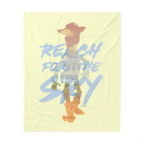 "Toy Story | ""Reach For The Sky"" Woody & Buzz Art Fleece Blanket"