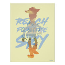 "Toy Story | ""Reach For The Sky"" Woody & Buzz Art Poster"