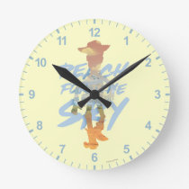 "Toy Story | ""Reach For The Sky"" Woody & Buzz Art Round Clock"