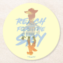 "Toy Story | ""Reach For The Sky"" Woody & Buzz Art Round Paper Coaster"