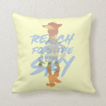 "Toy Story | ""Reach For The Sky"" Woody & Buzz Art Throw Pillow"