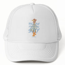 "Toy Story | ""Reach For The Sky"" Woody & Buzz Art Trucker Hat"