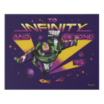 "Toy Story | Retro ""To Infinity And Beyond"" Buzz Faux Canvas Print"