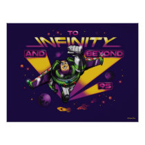"Toy Story | Retro ""To Infinity And Beyond"" Buzz Poster"