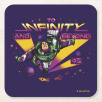 "Toy Story | Retro ""To Infinity And Beyond"" Buzz Square Paper Coaster"