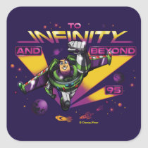 "Toy Story | Retro ""To Infinity And Beyond"" Buzz Square Sticker"