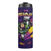 """Toy Story   Retro """"To Infinity And Beyond"""" Buzz Thermal Tumbler"""