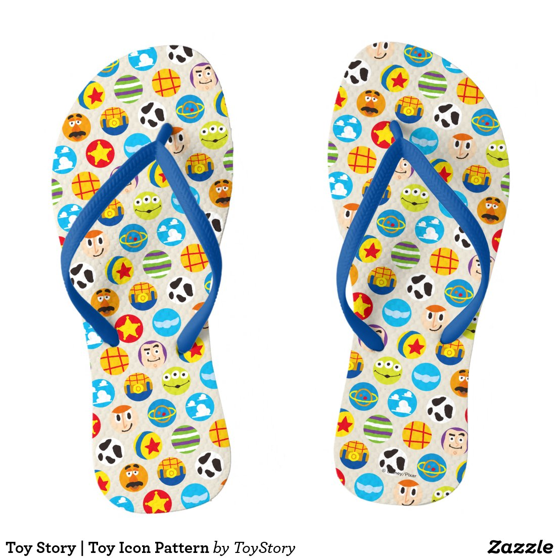 Toy Story | Toy Icon Pattern Flip Flops