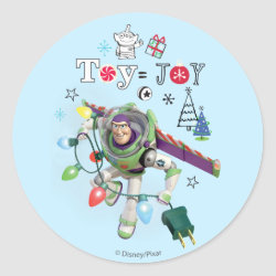 Round Sticker with Disney Christmas Ornaments design