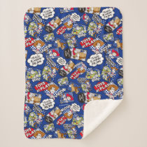 Toy Story | Toys at Play Comic Pattern Sherpa Blanket