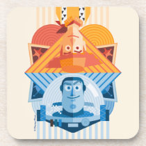 Toy Story | Woody & Buzz Reversible Graphic Beverage Coaster