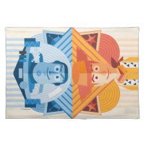 Toy Story | Woody & Buzz Reversible Graphic Cloth Placemat