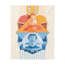 Toy Story | Woody & Buzz Reversible Graphic Fleece Blanket