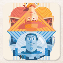 Toy Story | Woody & Buzz Reversible Graphic Square Paper Coaster