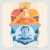 Toy Story | Woody & Buzz Reversible Graphic Square Sticker