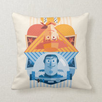 Toy Story | Woody & Buzz Reversible Graphic Throw Pillow