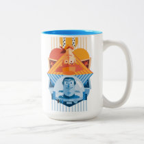 Toy Story | Woody & Buzz Reversible Graphic Two-Tone Coffee Mug