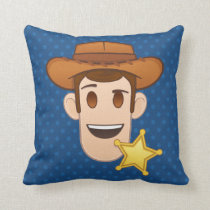 Toy Story | Woody Emoji Throw Pillow