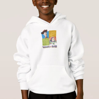 Toy Story's Buzz Lightlear and Woody Logo Hoodie