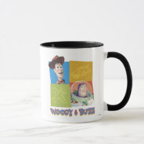 Toy Story's Buzz Lightlear and Woody Logo Mug
