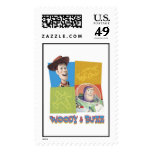 Toy Story's Buzz Lightlear and Woody Logo Postage Stamps