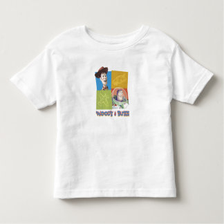 Toy Story's Buzz Lightlear and Woody Logo Toddler T-shirt