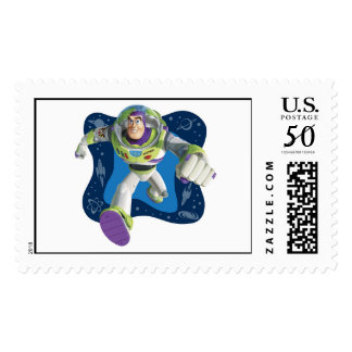 Toy Story's Buzz Lightyear running Postage