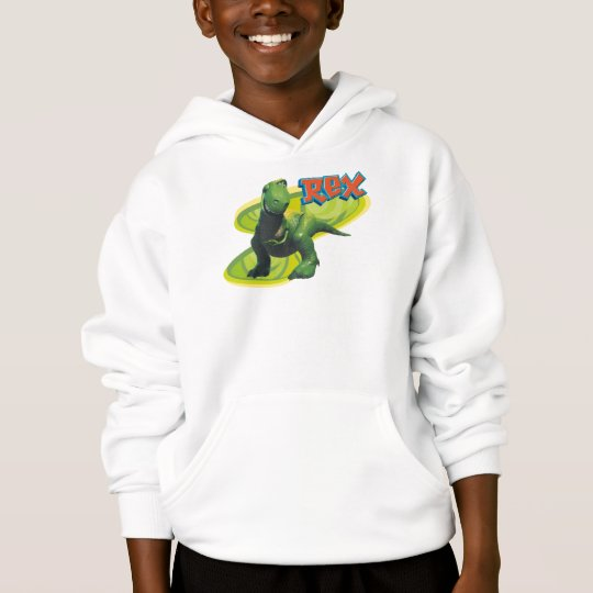 Toy Story's Rex standing with a smiling face. Hoodie