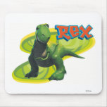 Toy Story's Rex standing with a smiling face. Mousepad