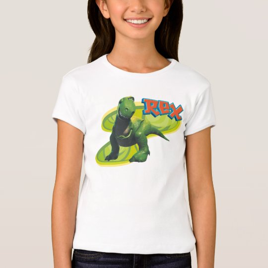 Toy Story's Rex standing with a smiling face. T-Shirt