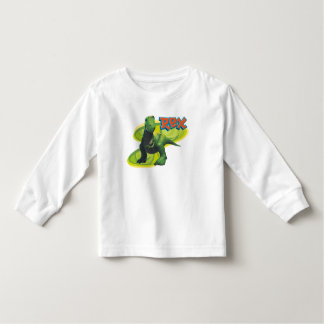 Toy Story's Rex standing with a smiling face. Toddler T-shirt