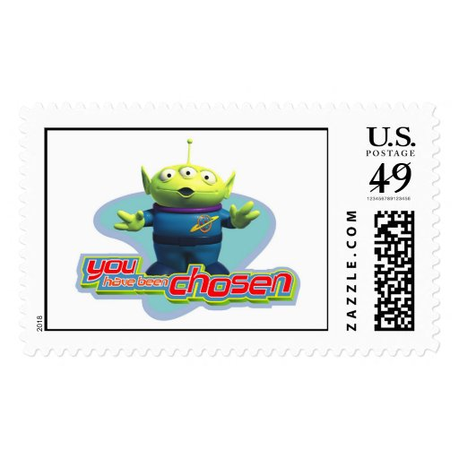 """Toy Story's """"You have been chosen"""" Alien Design Postage"""