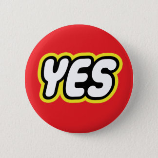 Toy style YES badge Button