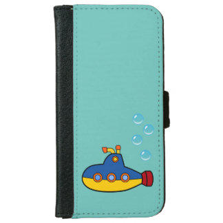 Toy Submarine with Blue Water Bubbles iPhone 6/6s Wallet Case