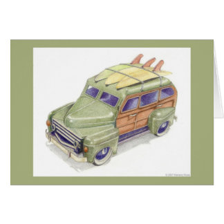 Toy Surf Car Green Card