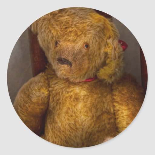 Toy - Teddy Bear - My Teddy Bear  Classic Round Sticker