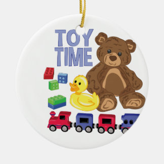 Toy Time Ceramic Ornament